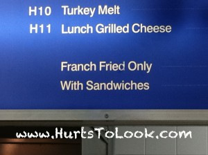 Photo of Franch Fried Only With Sandwiches