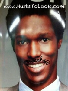 Photo of NYC Subway Black Man Moustache