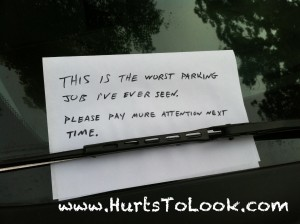 Photo of Worst Parking Job Ever Note Hurts To Look